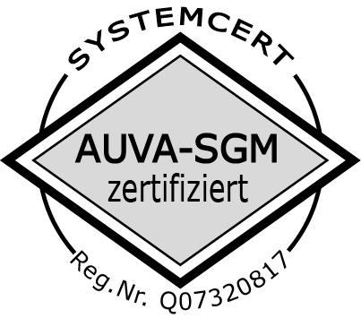 AUVA-SGM Zertifikat